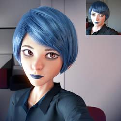 Blue Natalie by Ssendm