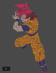 Typography Goku by ICR-427