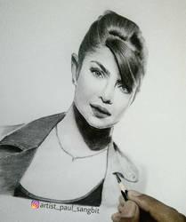 Beautiful @priyankachopra by artistpaulsangbit