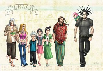 Bleach, group shot. by hueco-mundo