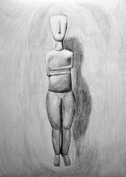 Cycladic Statuette by AnnaBubblegum
