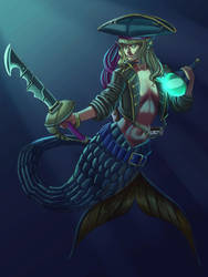 The pirate of the deep sea Comision by Finishingstrike