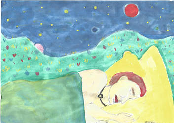 Dreaming under a sea of stars by Guidinglove