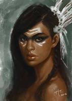 Arawak Dancer Portrait WIP by Rustveld