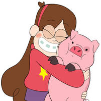 Mabel and Waddles by greatlucario