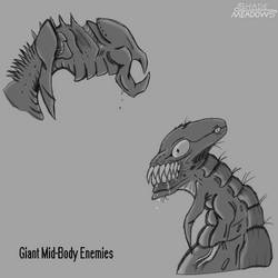 Giant Mid-Body Enemies by 0-DarknesShade-0