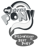 (Gift)MLP:FIM Logo Pillow Sleep Version by AndreaSemiramis