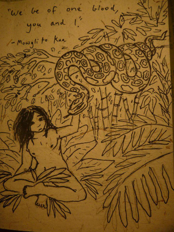 Mowgli And Kaa by pythoncasey