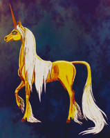 Golden Unicorn by Graupe