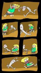 Rachel vs. The Mummy by EggHeadCheesyBird