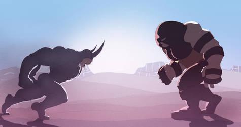 Rhino vs Juggernaut by Juggertha