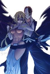 Halibel with Ichigo - Bleach by Juggertha