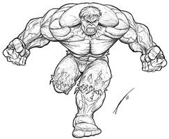 Hulk - lines by Juggertha