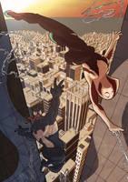 Spider-gwen vs Venom by Juggertha