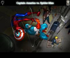 Captain America vs Spiderman by Juggertha