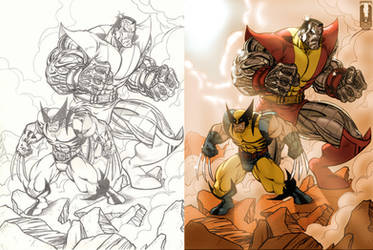 Color - Colossus and Wolverine by Juggertha