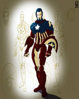 Captain America redesign by Juggertha