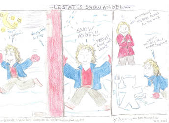 Lestat's Snow Angel by wolfMancub
