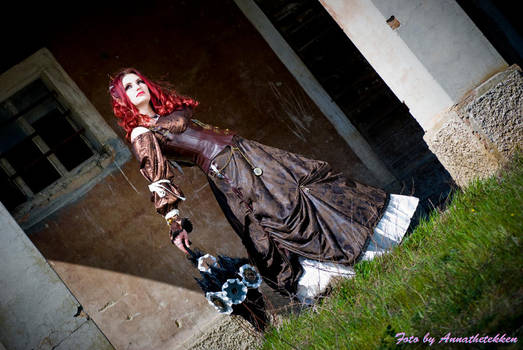 Steampunk girl by Annathetekken