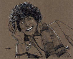 Tom Baker - The Fourth Doctor by Jerantino