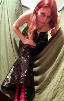 Vinyl Dress Lean by DominaKiara