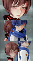 MMD KAITO x MEIKO - Please Don't Go by GingerCat911
