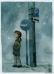 Snow... by cattish