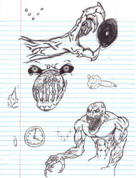 Doodles/Sketches #118 by WaywardMartian