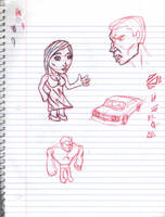 Doodles/Sketches #144 by WaywardMartian