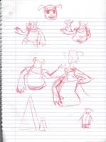 Doodles/Sketches #153 by WaywardMartian