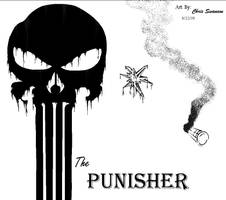 The Punisher - MS Paint by WaywardMartian