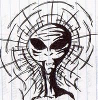 Grey Alien by WaywardMartian