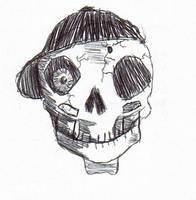 Playful Skull by WaywardMartian