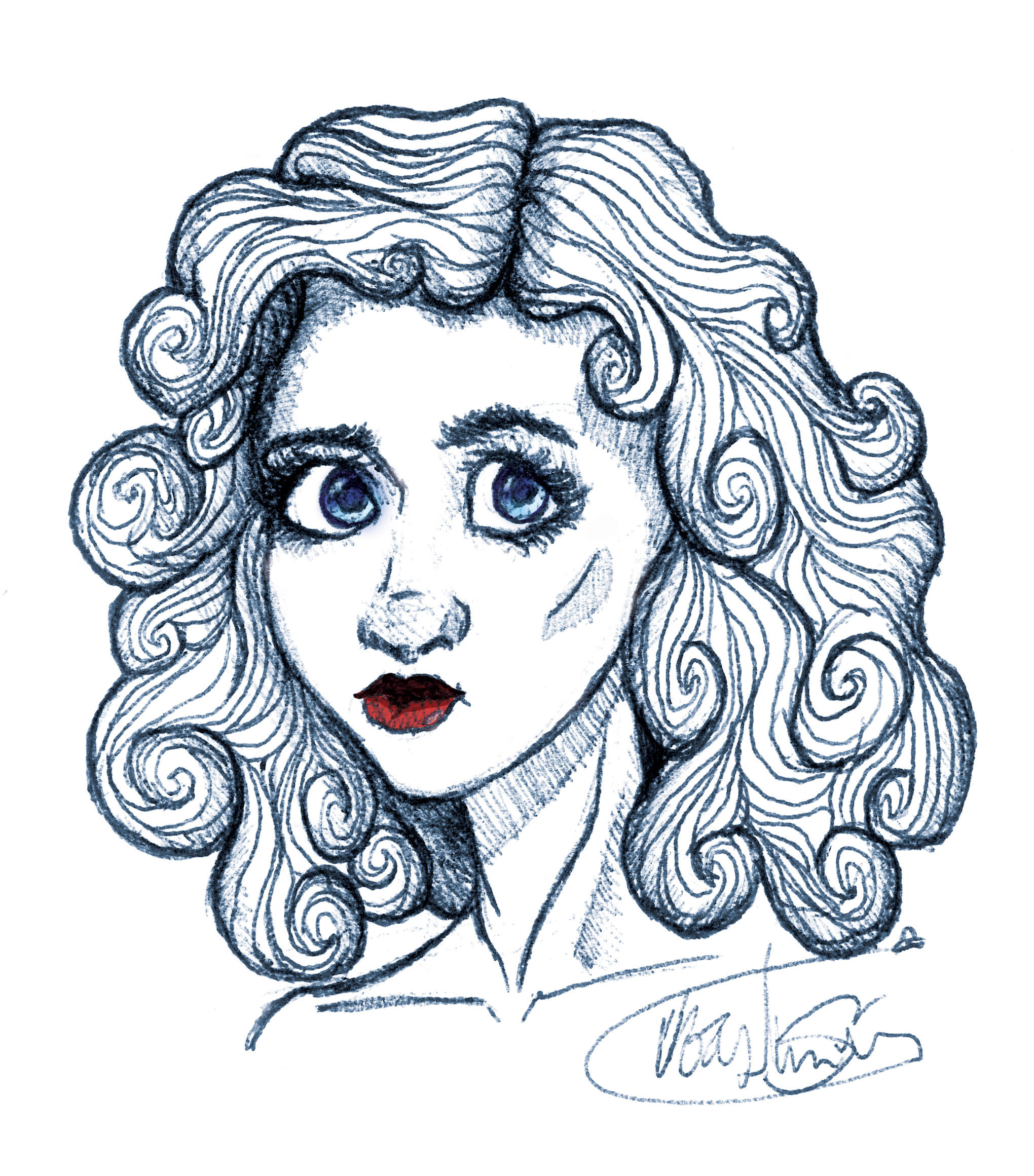 Elegant Curls by WaywardMartian