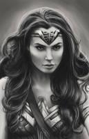 Black and White Wonder Woman (Gal Gadot) by WaywardMartian