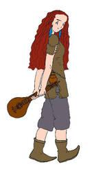 Bard Girl RPG by liligaltran