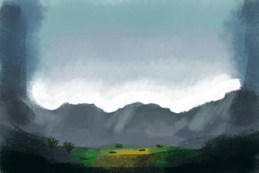 Mountain scene by westernwinds