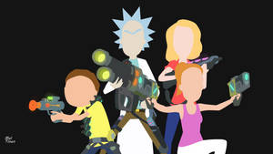 Rick and Morty - Minimalist Wallpaper by Meleusou