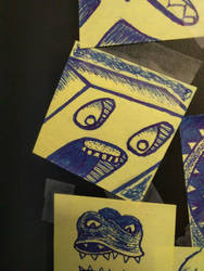 MORE Post-it Monsters! 02 by xLeSpiderx