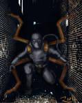 Iron Spiderman Noir by Rene-L