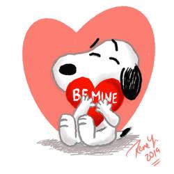 Be Mine Snoopy by Rene-L