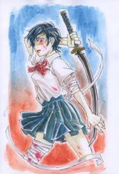 Blood+ Otonashi Saya by camiyu