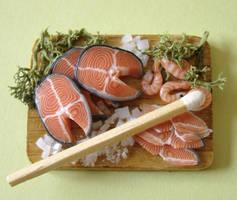 Salmon Preparation Board by PetitPlat