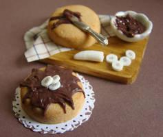 Chocolate and Banana Cake by PetitPlat
