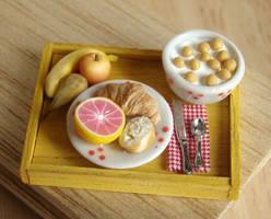 Yellow Breakfast Tray by PetitPlat