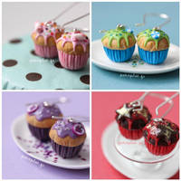 New Cupcake Earrings by PetitPlat