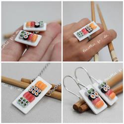 Miniature Sushi Jewelry by PetitPlat