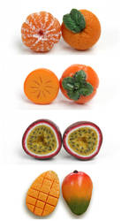 Miniature Fruit Studs by PetitPlat