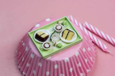 Miniature Patisserie Tray by PetitPlat