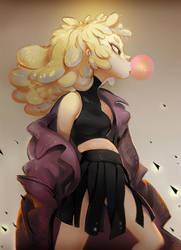 Popping gum girl by huanGH64